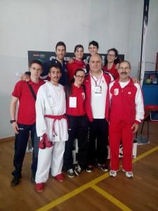 Squadra Karate Cus Bari ai CNU 2015 Salsomaggiore Terme