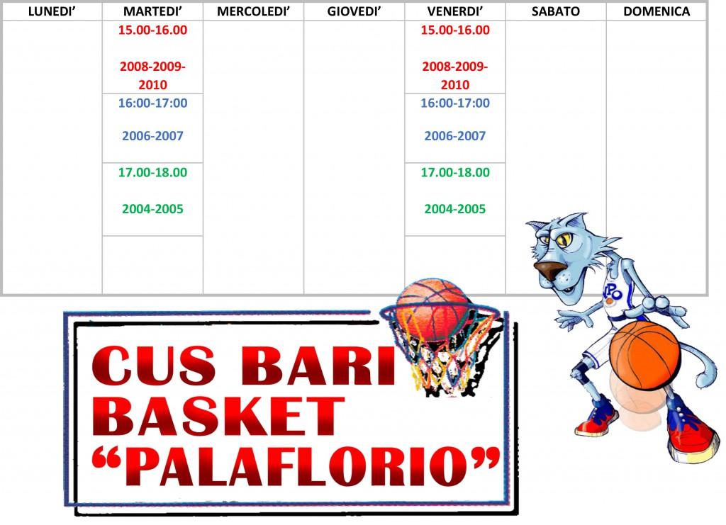 Orari Basket_palaflorio