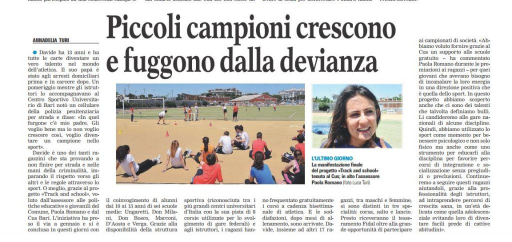 Track and School gazzetta